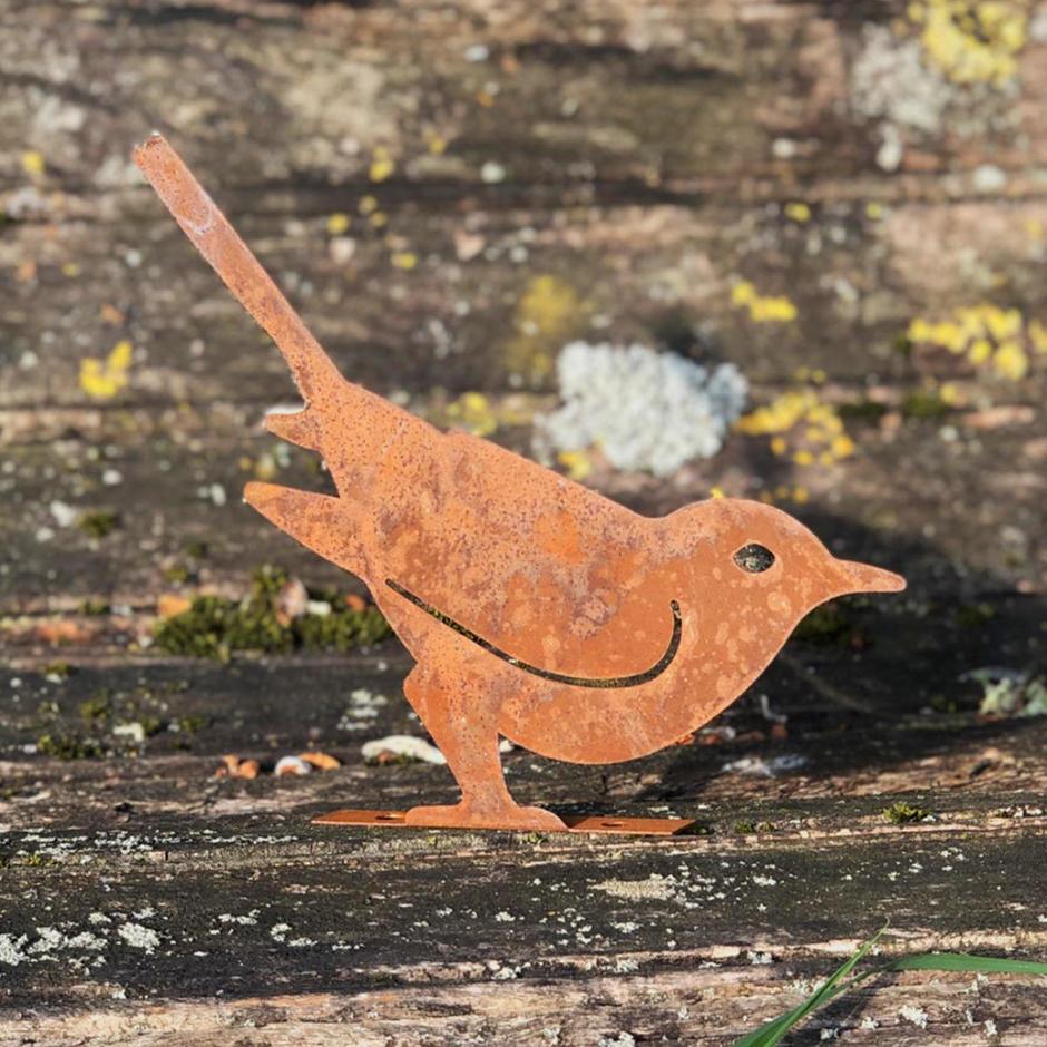 Rusting Garden Bird Silhouette