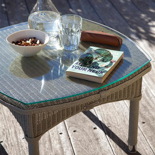 Dovile Side Table Glass Top