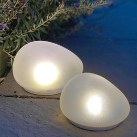 Solar Glass Stone Light