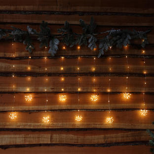 Starburst Icicle Micro LED String Light Curtain