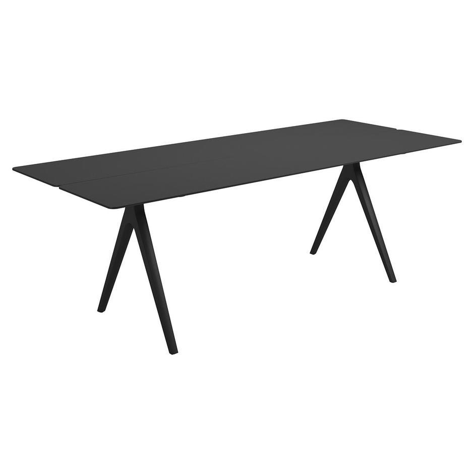 Split 220cm Dining Tables with Aluminium Tops