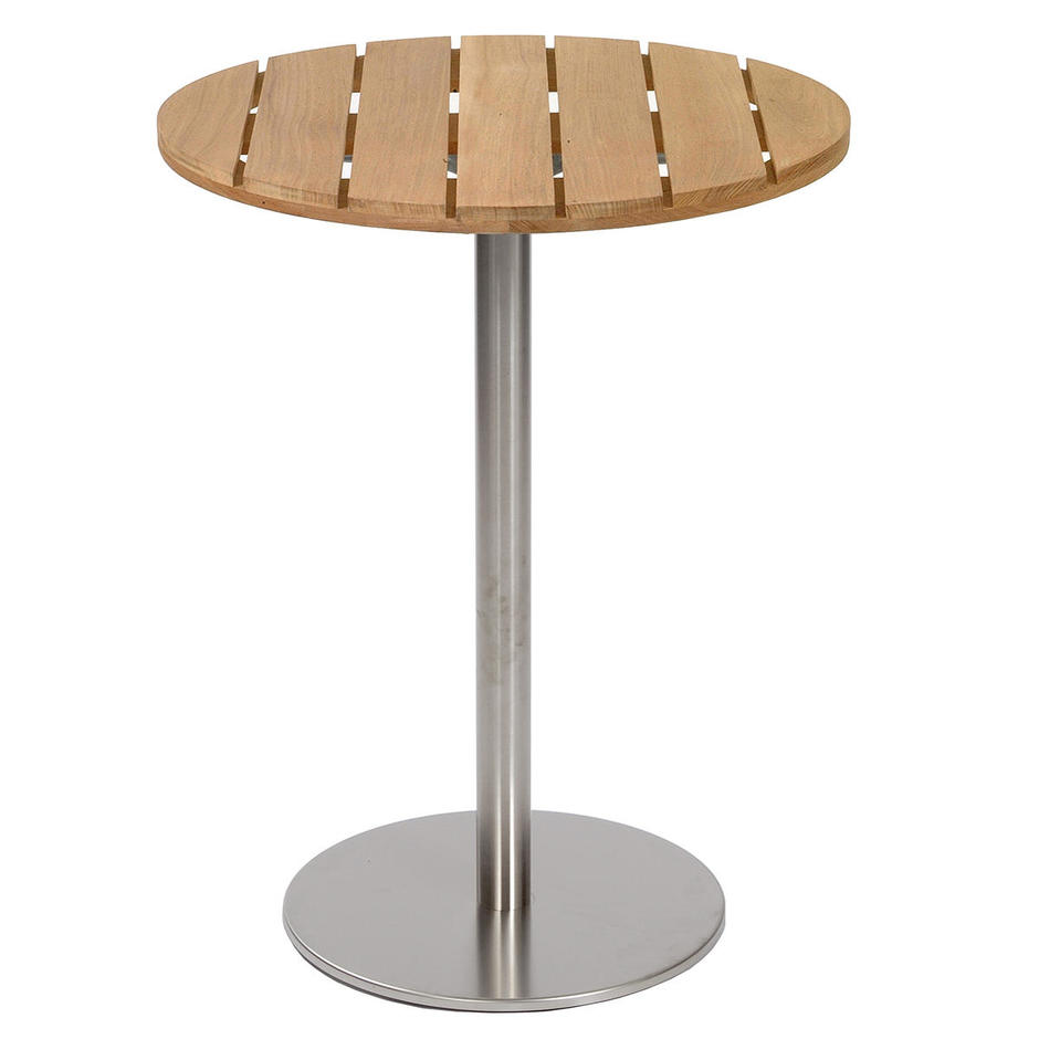 Canteen Outdoor Stainless Steel Thin Pedestal Table Base