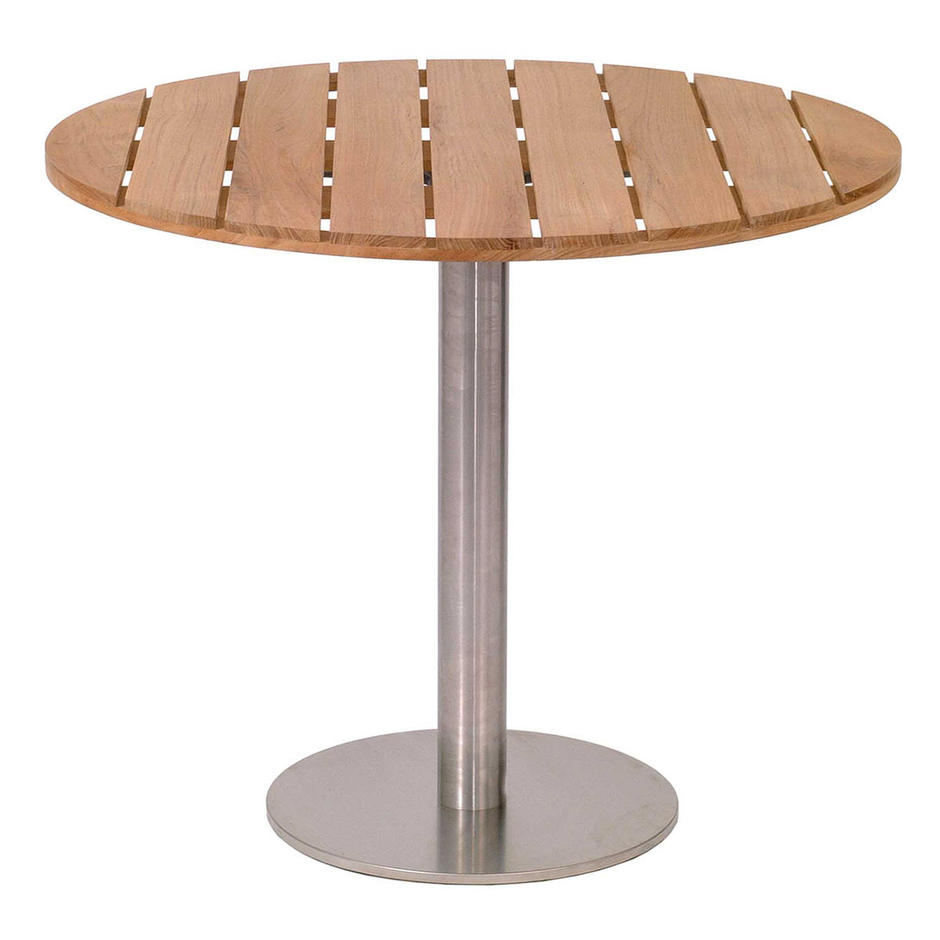 Canteen Outdoor Stainless Steel Pedestal Table Base