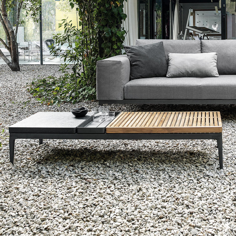 Grid Modular Coffee Tables with Ceramic Tops