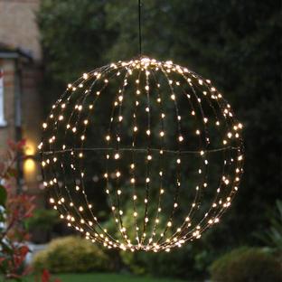 Outdoor LED Black Decorative Spheres