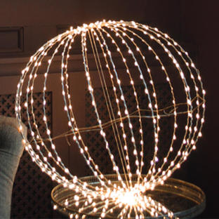 Outdoor LED Silver Decorative Spheres