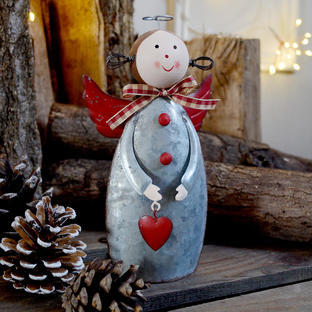With All My Heart Metal Angel Decoration