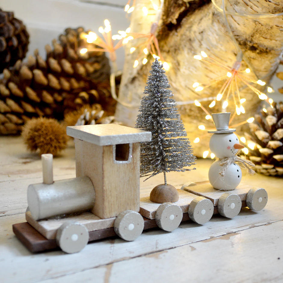 All Aboard Wooden Christmas Train Decoration