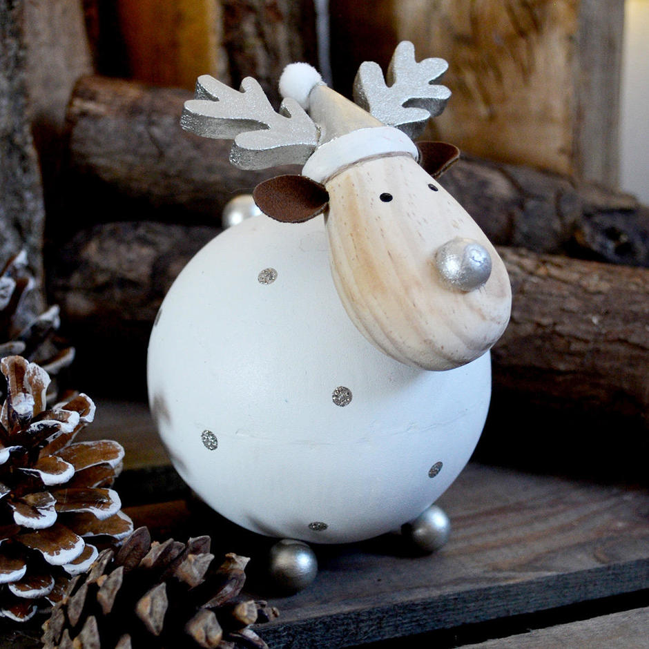 Snowball Reindeer Decoration