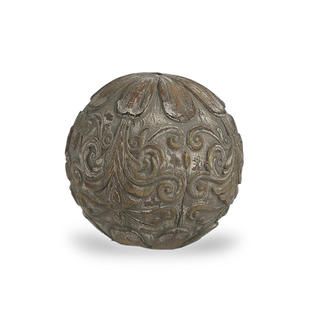 Decorative Grey Patterned Sphere