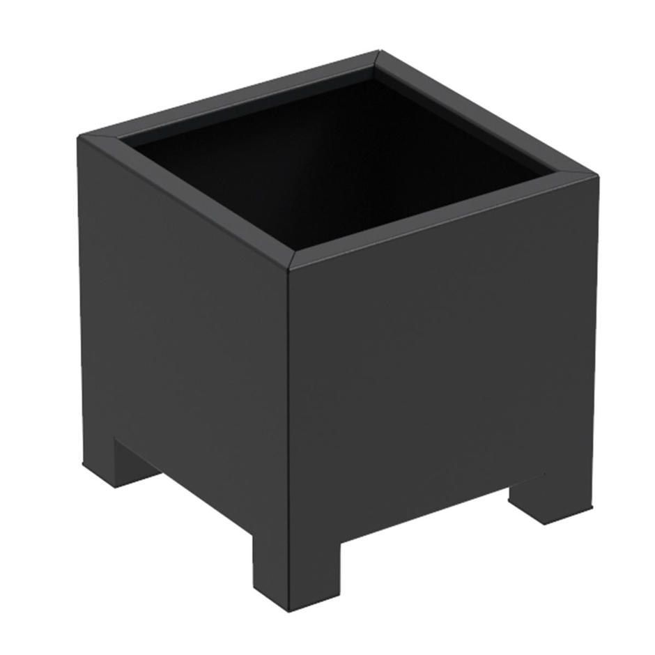Square Cube Footed Aluminum Planters