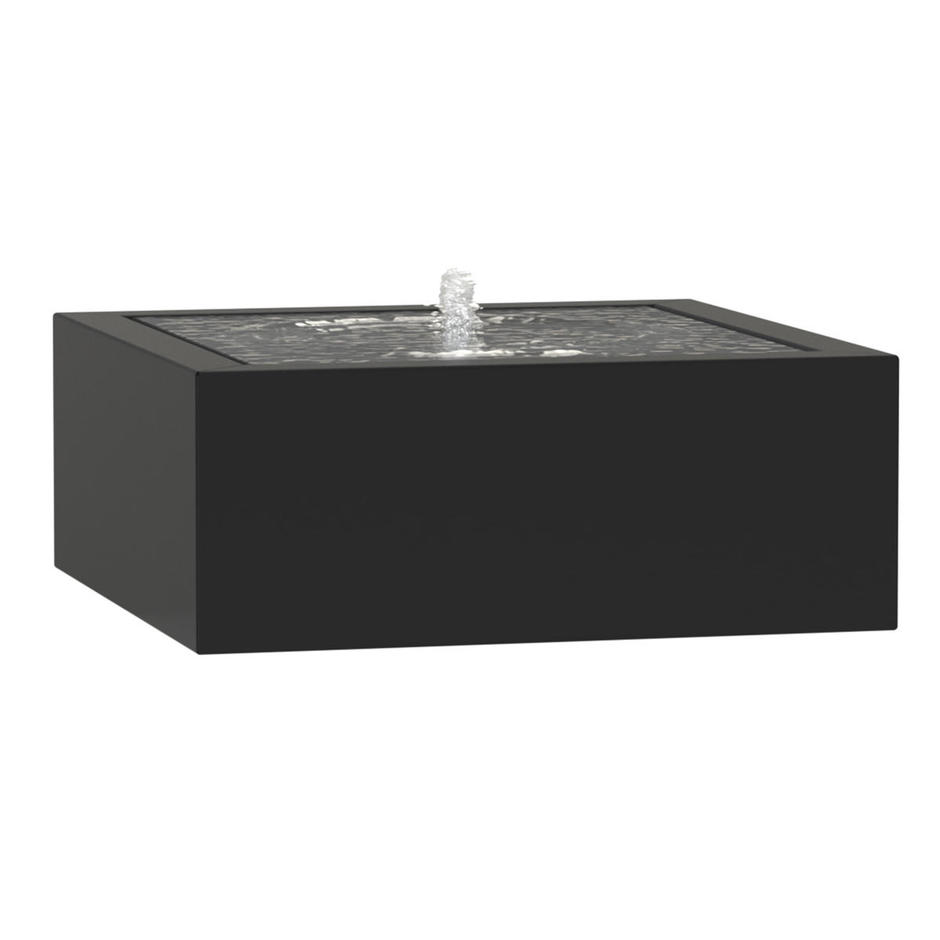 Aluminium Square Water Feature with Fountain