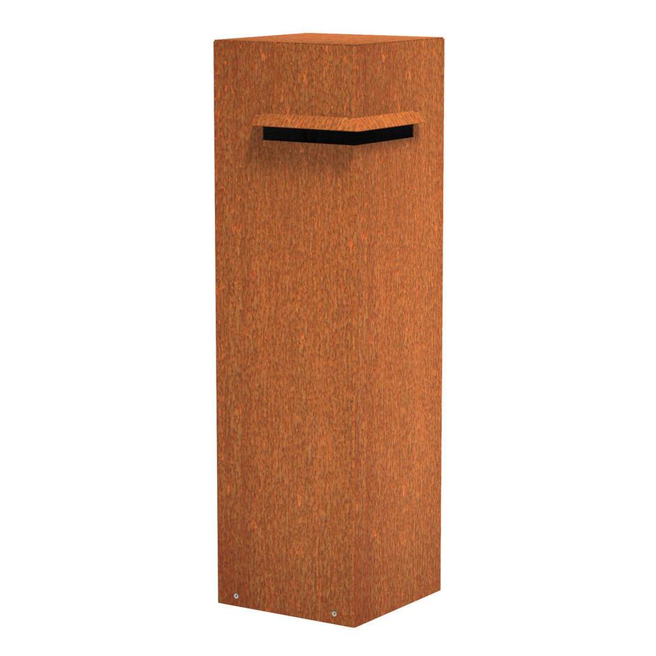 Metal Pillar Letter Boxes with Corner Slot