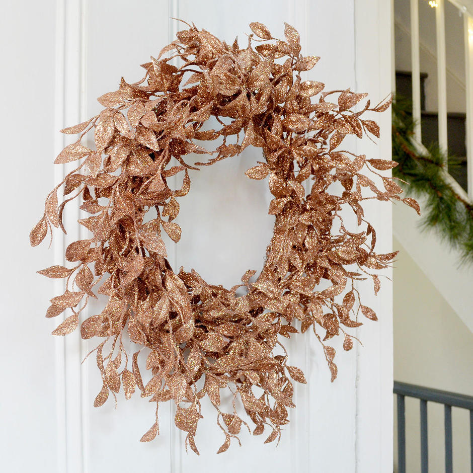 Rose Gold Honeysuckle Wreath