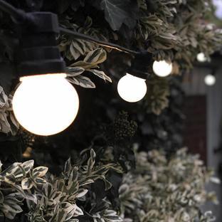 Outdoor Single Length LED Warm White Opaque Festoon Lights