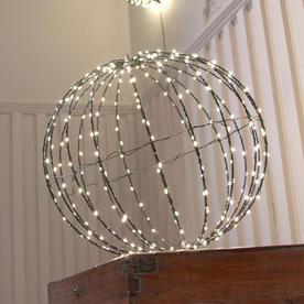 Outdoor LED Black Decorative Spheres - Set of 3