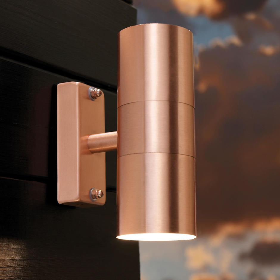 Tin Outdoor Up / Down Wall Lighting