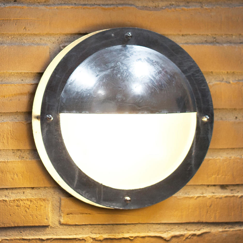 Malte Outdoor Half Shade Ceiling / Wall Lighting