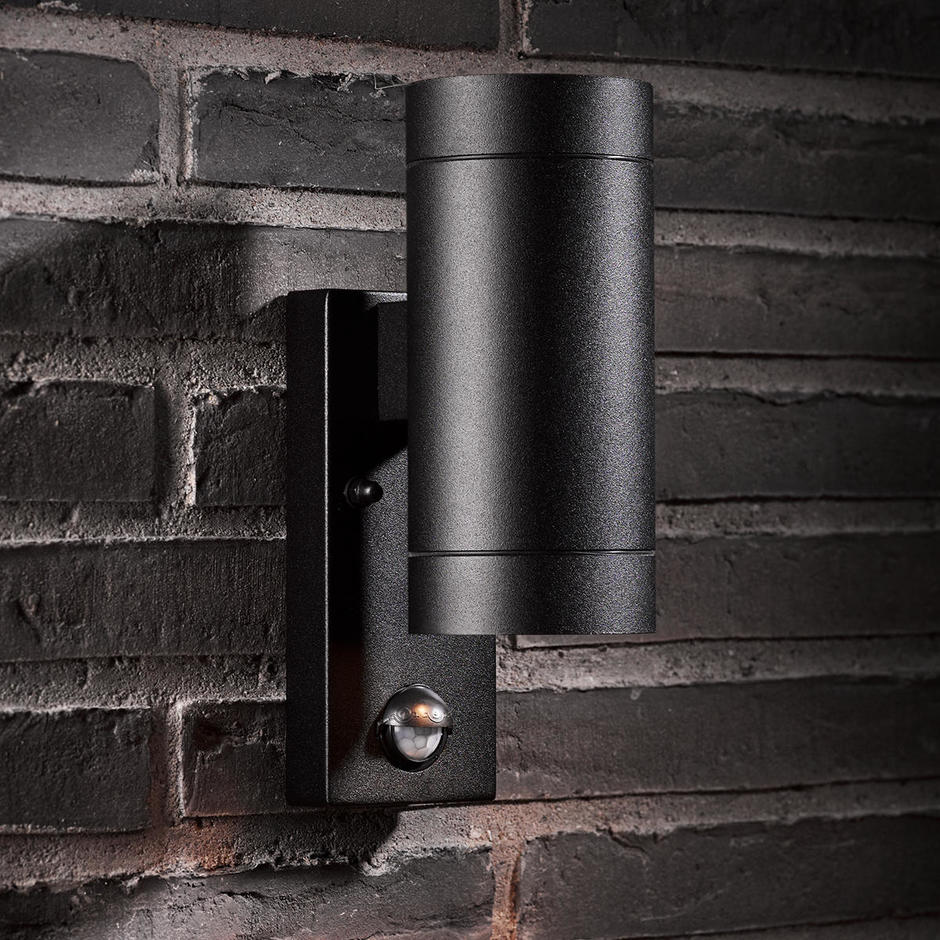 Tin Outdoor Up / Down Maxi Wall Lighting with Sensor
