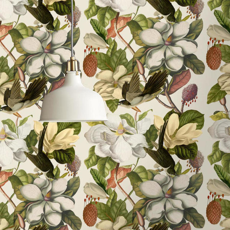 Magnolia Taupe Feature Wallcovering