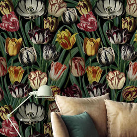 Tulips Neutral Feature Wallcovering