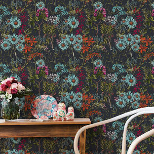 Summerish Charcoal Feature Wallcovering