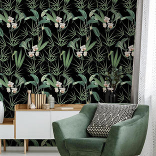 Palm Springs Anthracite Feature Wallcovering