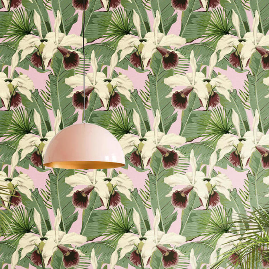 Treasure Island Pink Feature Wallcovering