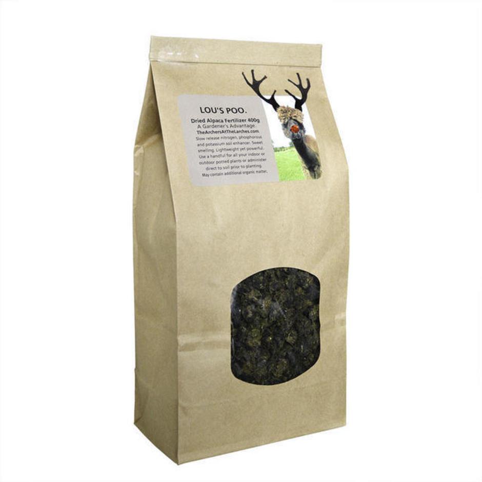 Lou's Poo Alpaca Fertiliser - Christmas Shredded