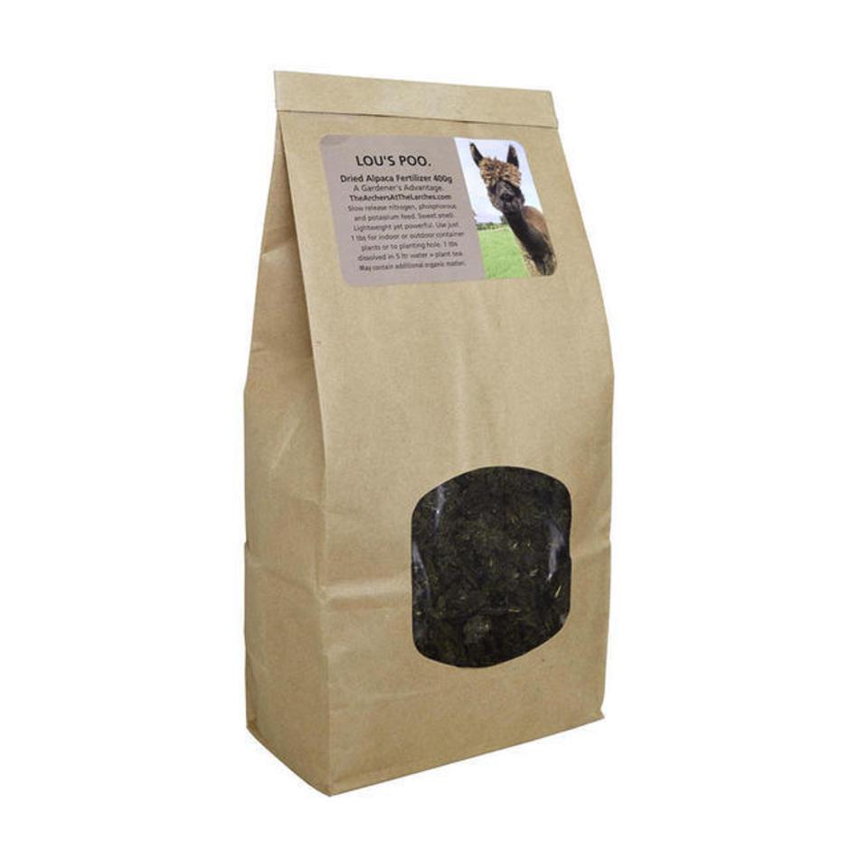 Lou's Poo Alpaca Fertiliser - Shredded