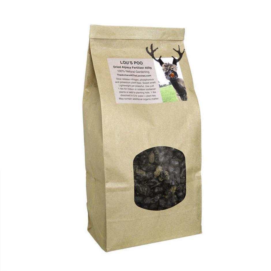 Lou's Poo Alpaca Fertiliser - Christmas Beans