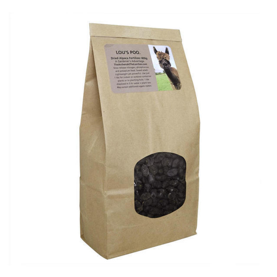 Lou's Poo Alpaca Fertiliser - Beans