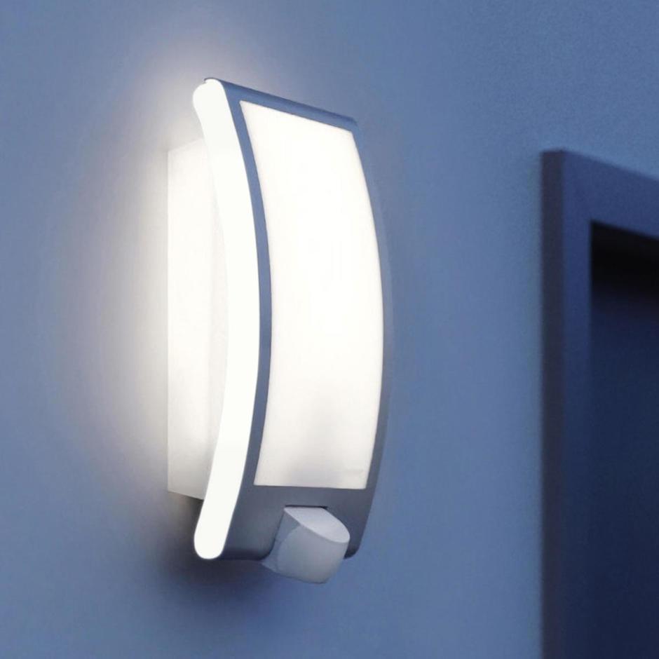 Motion Sensor Stainless Steel Edged Wall Light