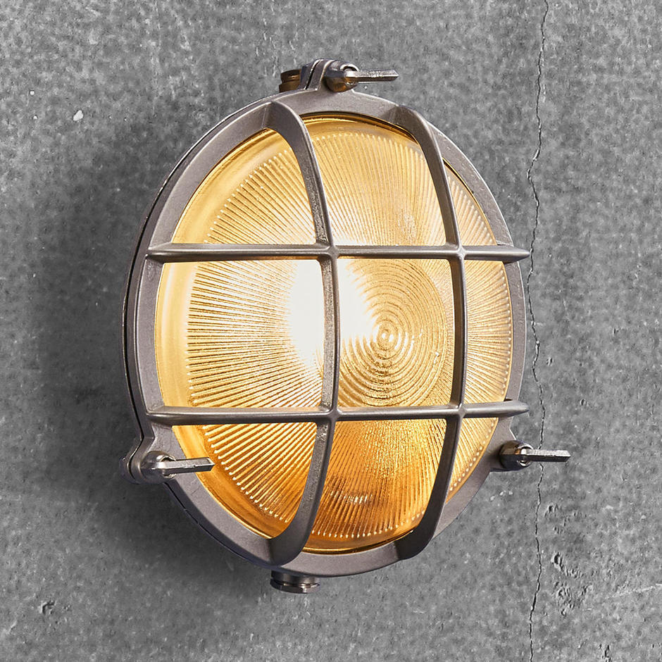 Polperro Round Bulk Head Outdoor Lights