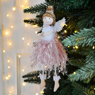 Pink Tulle Fairy Hanging Tree Decoration