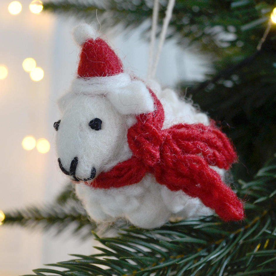 Shirley Sheep it's Christmas - Tree Decoration
