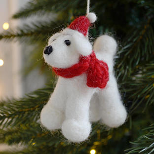 Felt Posh Poodle Pooch Christmas Decoration