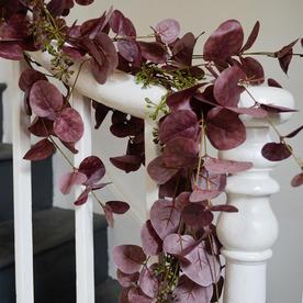 Mulberry Red Eucalyptus Garland
