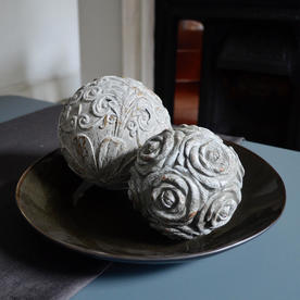 Decorative Grey Patterned Sphere