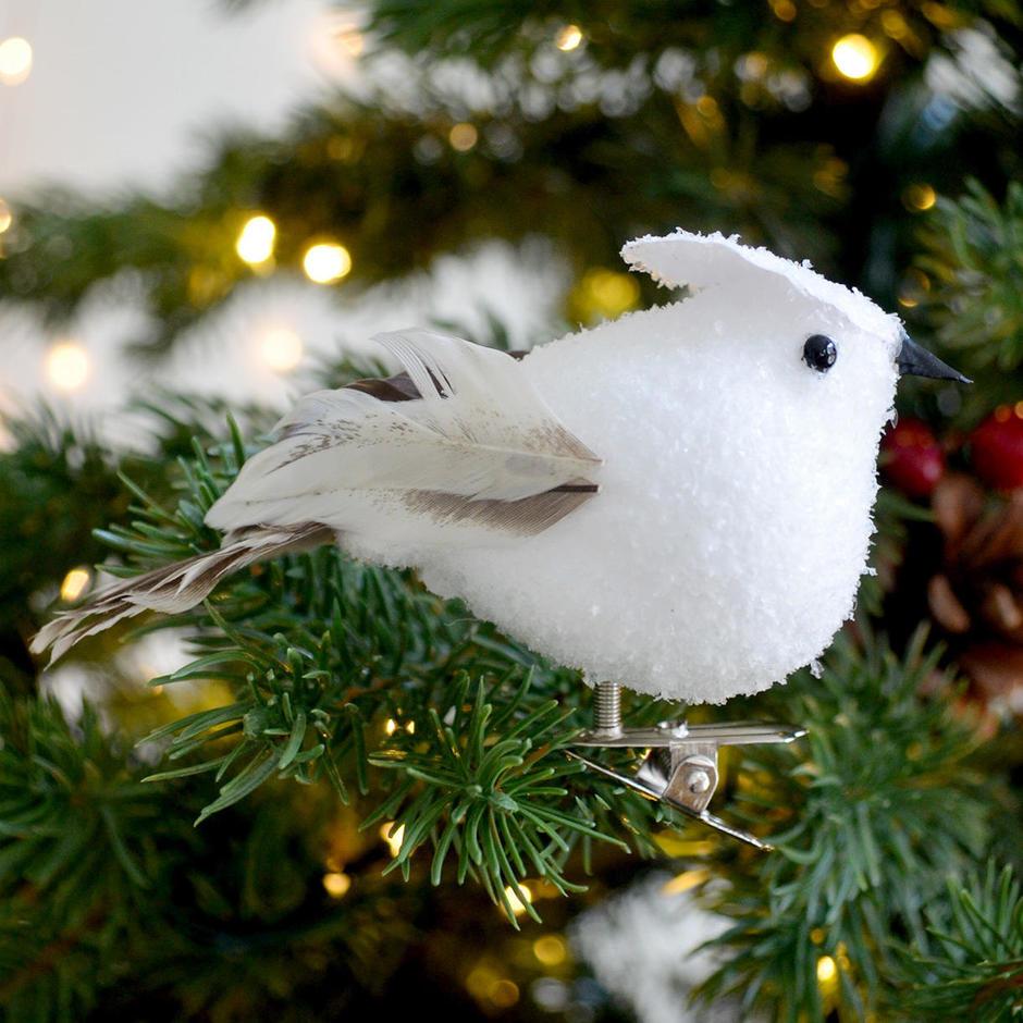 Winter Snow Bird on Clip
