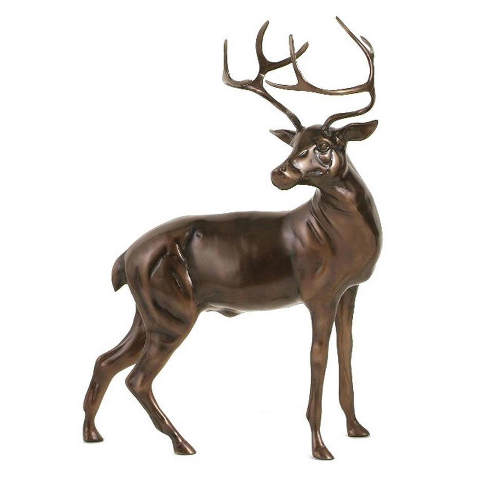 Bronzed Stag Figure