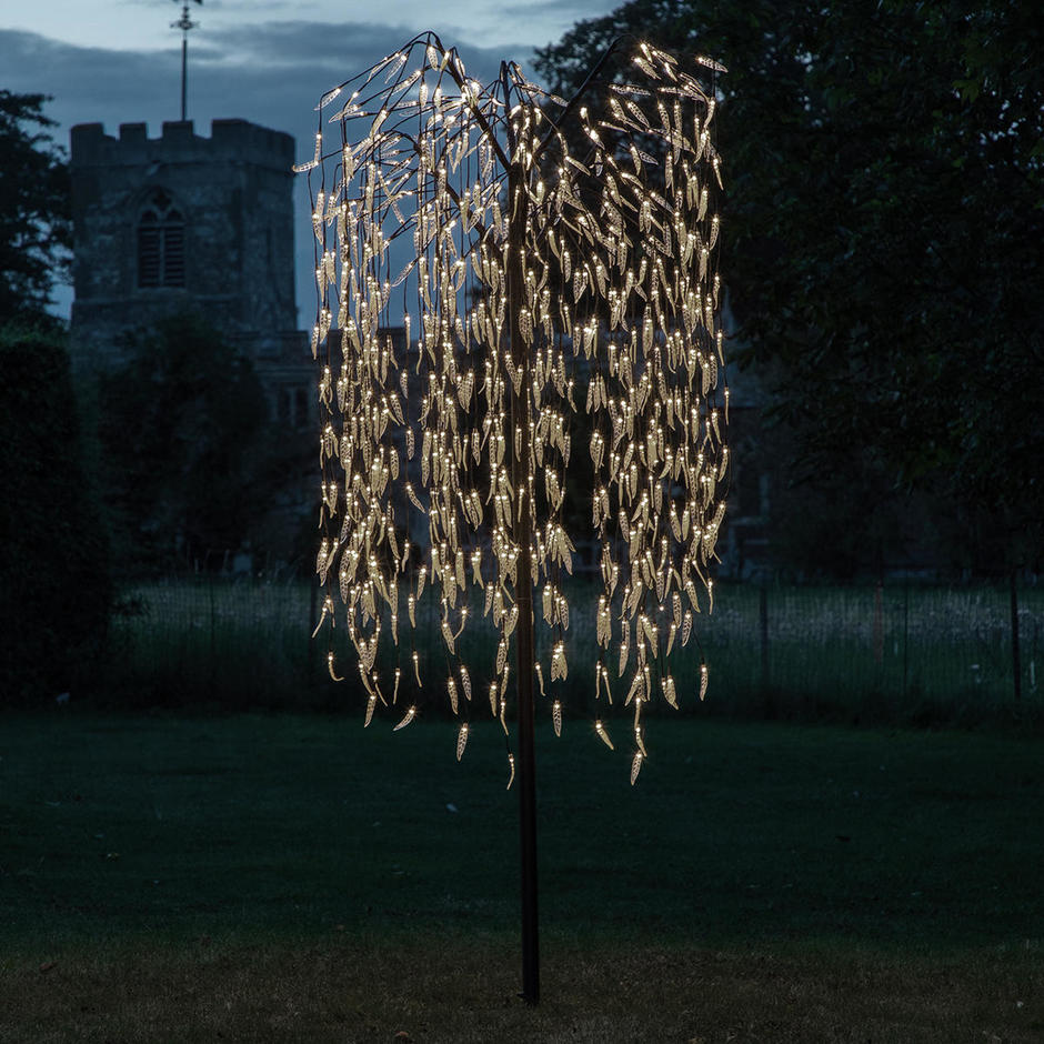 Cascading LED Willow Tree