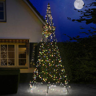 Outdoor 3D Illuminated Multi Coloured LED Christmas Tree