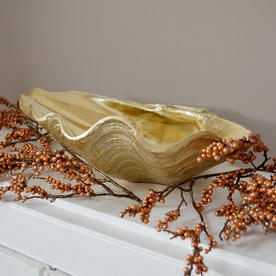Gold Decorative Clam Shell Dish