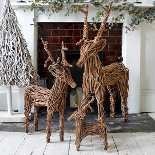 Wicker Reindeers