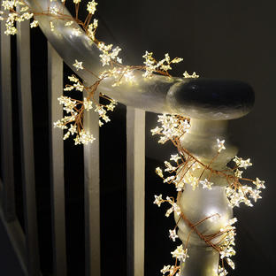 Star Cluster Bare Wire Micro LED Light Garland