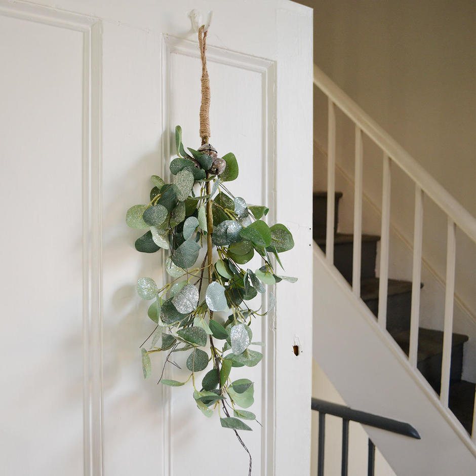 Eucalyptus Leaf and Bell Swag Decoration