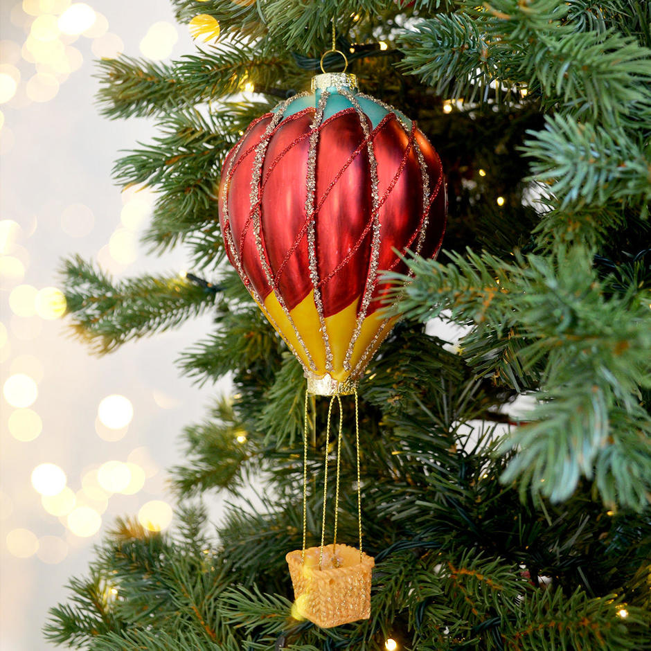 Vintage Style Glass Air Balloon Hanging Decoration