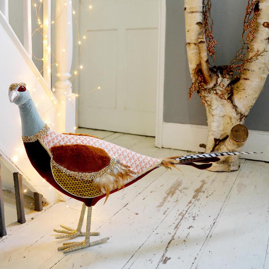 Dandy Baroque Fabric Pheasant Decoration