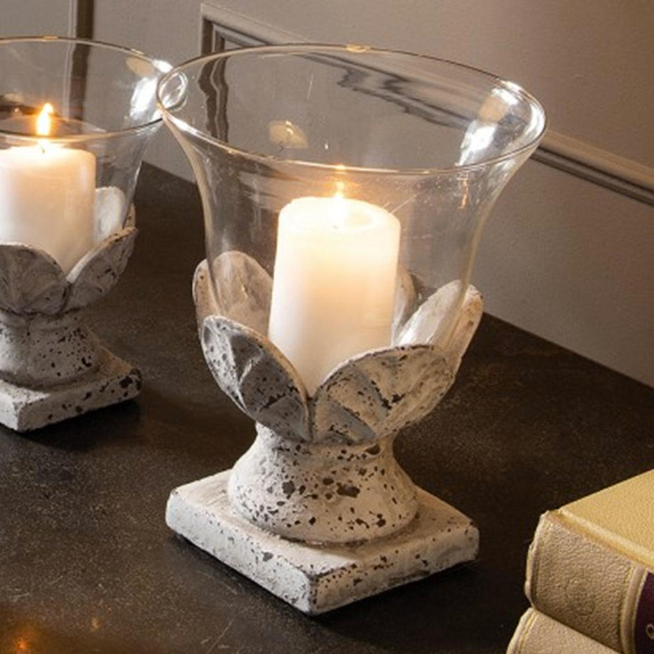 Stone Hurricane Lamp